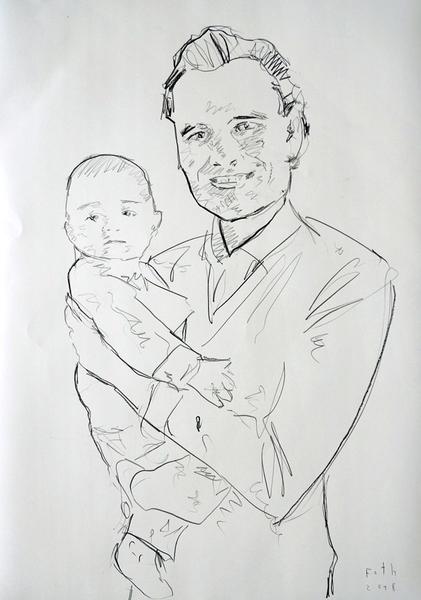Vater mit Kind, September