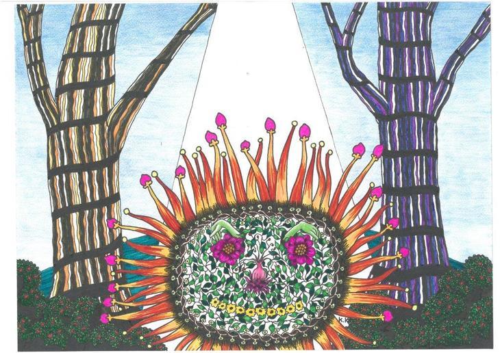 Florist Ernest Composto, fantasy story, brut art outsider