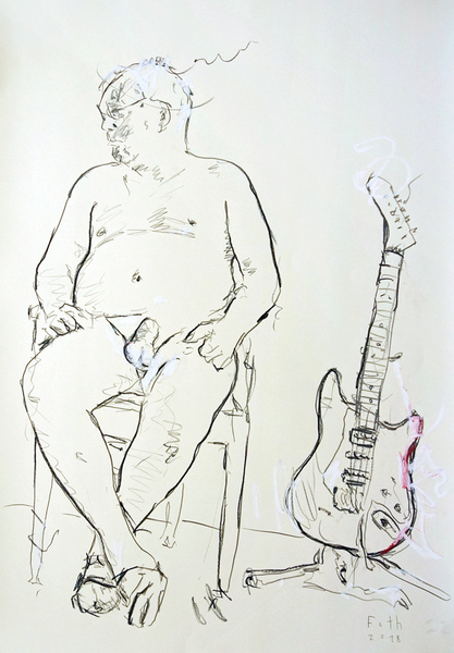Selbstakt mit Elektrischer Gitarre