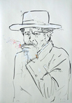 Bob Dylan, rauchend