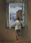 Girl standing at the window