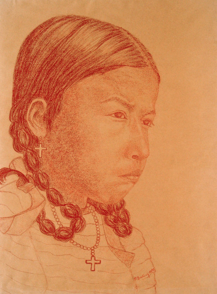 THOUGHTFUL RED INDIAN GIRL