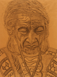SORROWFUL OLD RED INDIAN MAN