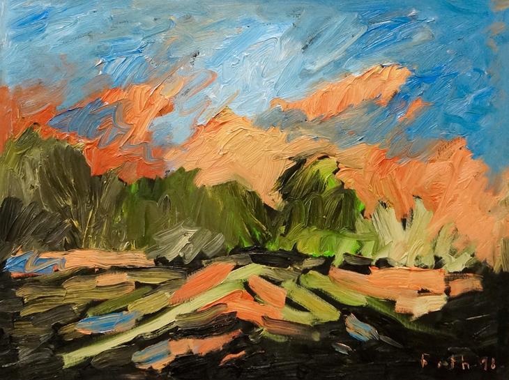 Landschaft, gewittriges Licht mit wandernden Schatten II