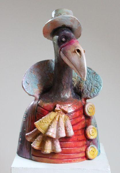 Ceramic sculpture Bird