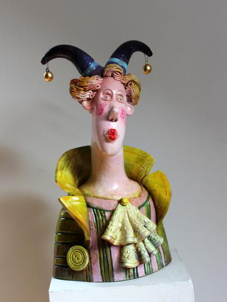 Ceramic sculpture Clown