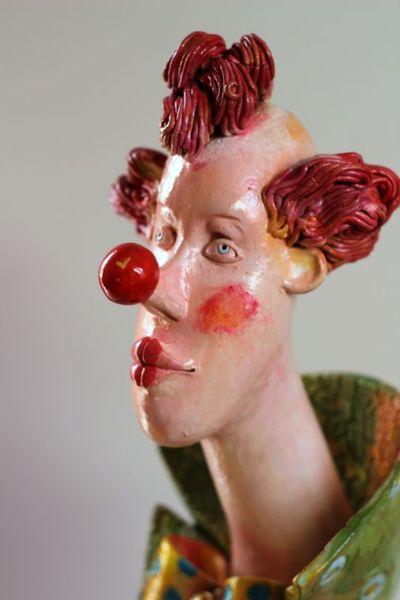Clown Ceramic sculpture