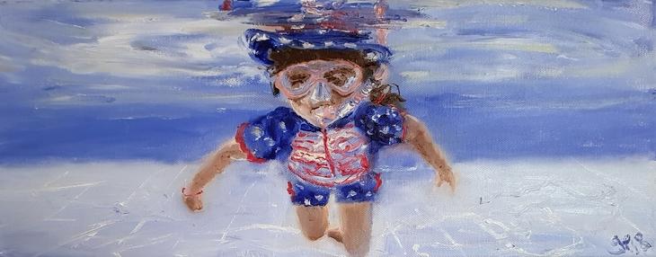 Sophie snorkeling