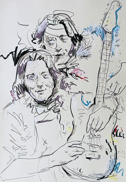 Rory Gallagher mit Fender
