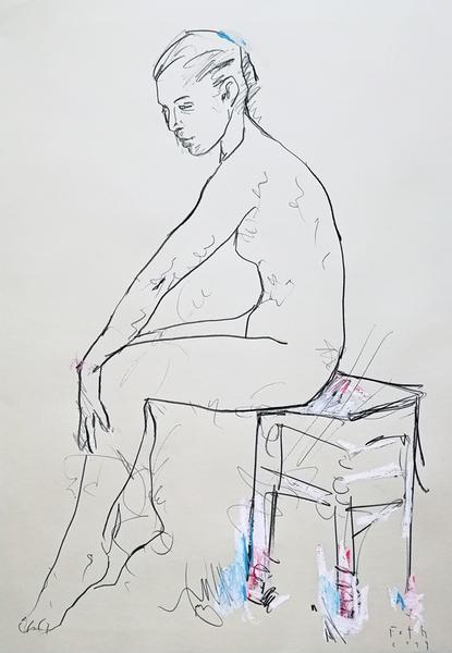 Im Atelier, Januar V