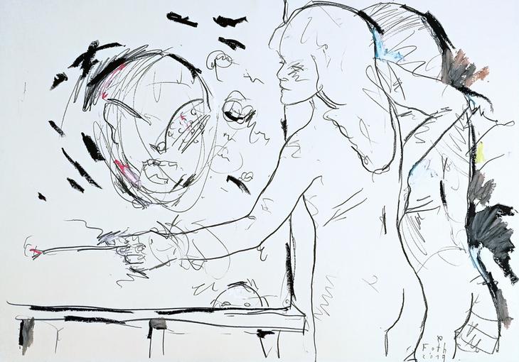 Im Atelier, Januar VII