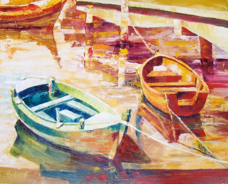 Boote am Steg 1