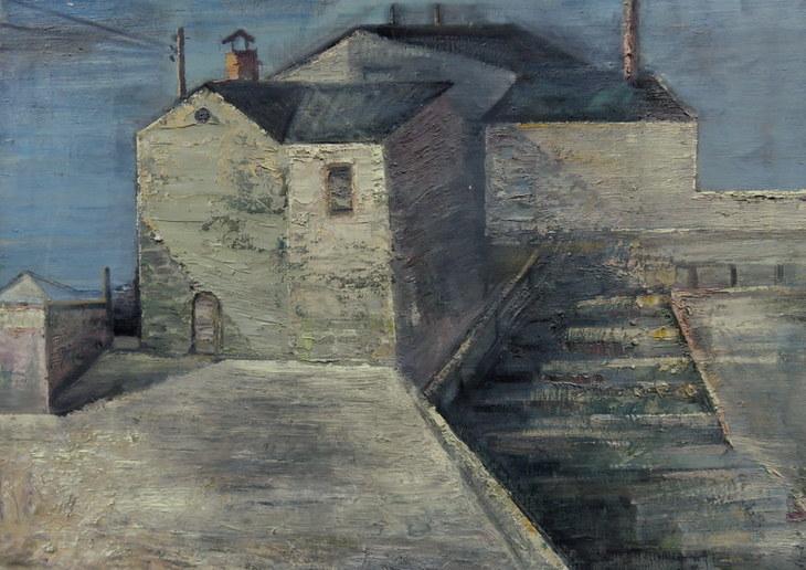 Haus und Treppe