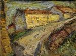 Gelbes Haus am Hang