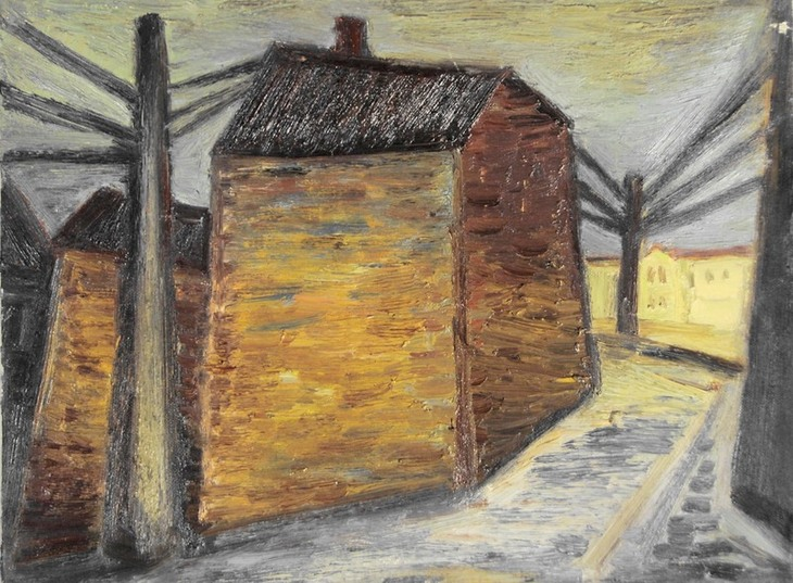 Häuser und Masten