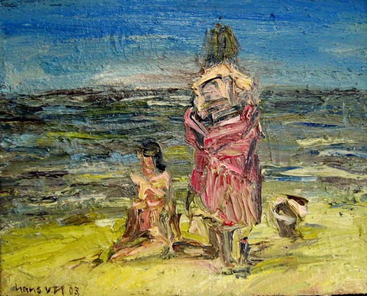 Zwei Frauen am Meer