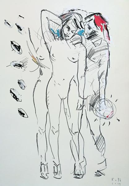 Zwei Frauen mit leichtem Schuhwerk