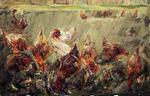 Hühner im Kraut