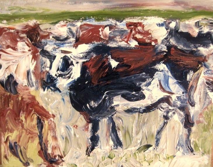 Kühe in der Dämmerung
