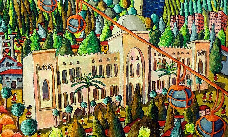 haifa city israel bahai gardens  german colony university  art