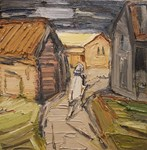 Weg zwischen Häusern