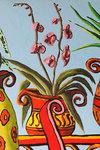 still life paintings flowers pot  flower painting raphael perez
