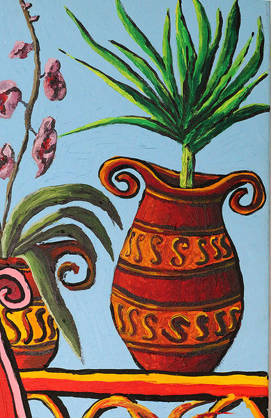 still life paintings flowers pot  flower painting raphael perez