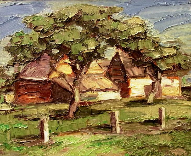 Häuser im Hochland