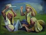 Drei  blonde  Mädchen  1