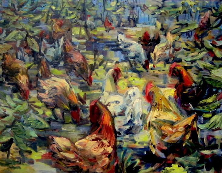 Hühner im Kraut 2