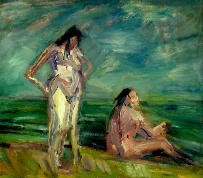 Zwei Frrauen am Strand
