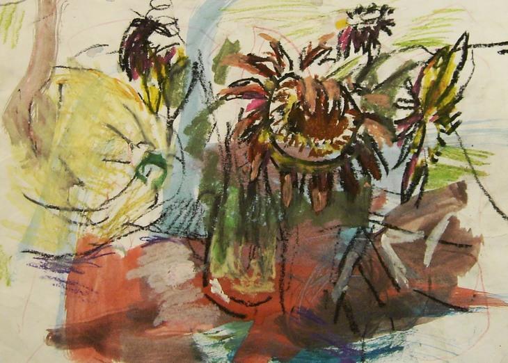 Sonnenrose und  Kürbis  2