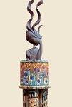 sculpture painted acrylic israel art modern artist