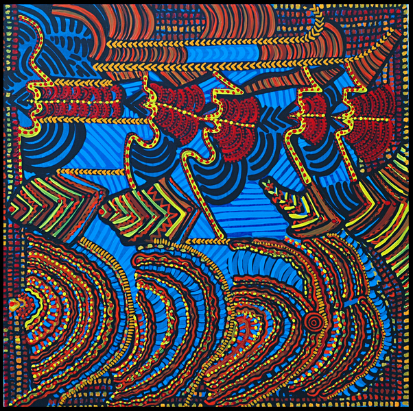 Visual modern artistic colorful painting
