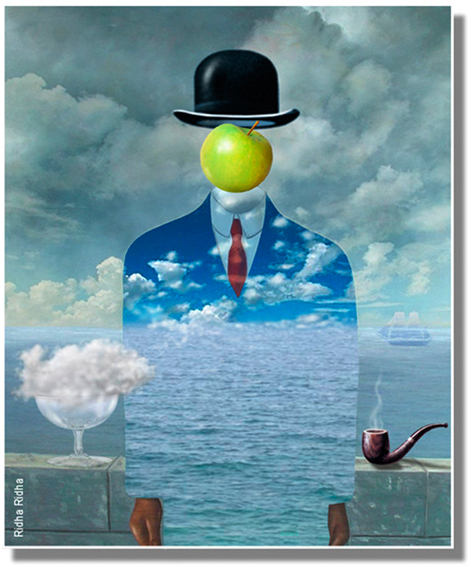 A homage to René Magritte