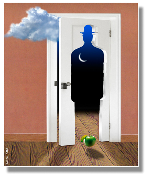 A homage 2  to René Magritte