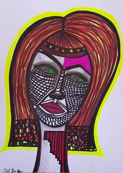 original art israel woman painting