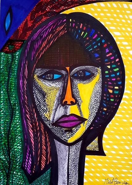 woman jewish painting mirit ben-nun art