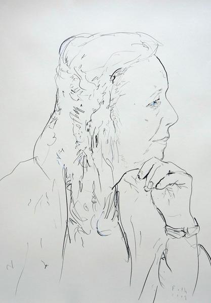 Profilansicht einer älteren Dame I