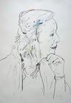 Profilansicht einer älteren Dame II