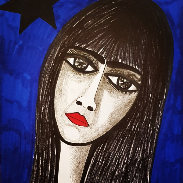 Original jewish israeli woman art