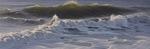 Wellen im Abendlicht