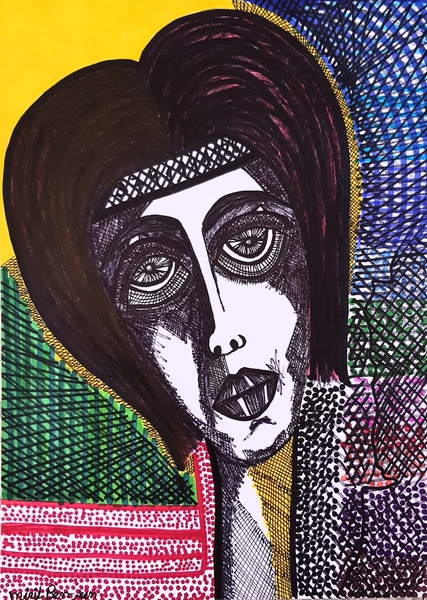 jewish woman portrait paintings mirit ben-nun