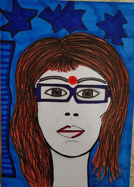 female portrait art israel mirit ben-nun painter