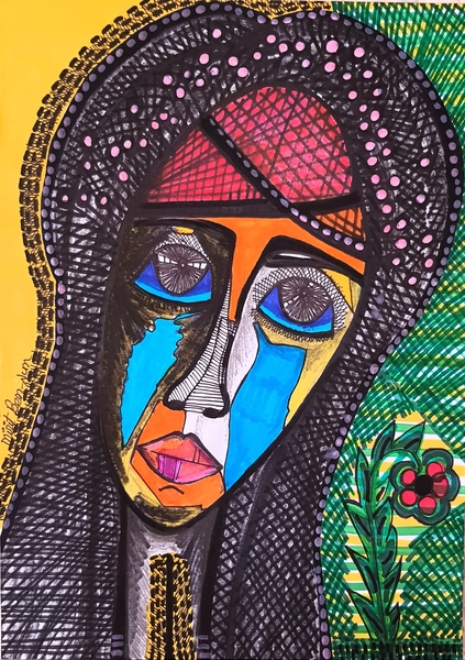 women portrait contemporary female artist mirit ben nun