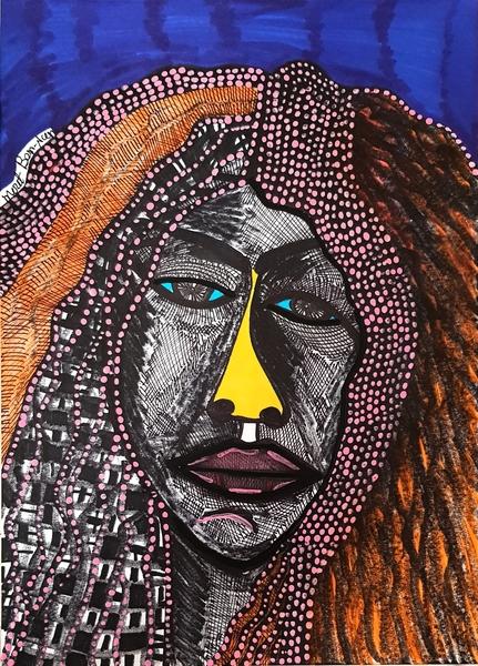 woman portrait modern painter mirit ben nun israel