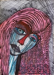Isralei female artist modern expressive portrait