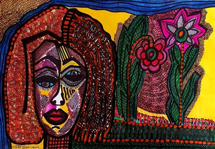 jewish women painting israeli art mirit ben nun