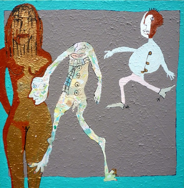 BUENOS AIRES TANGO, 2001-16, 120 x 120 cm, acrylic on canvas