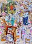 ERSTE ABENTEUER IN DER SIERRA MORENA, 2018, 80 x 60 cm, canvas